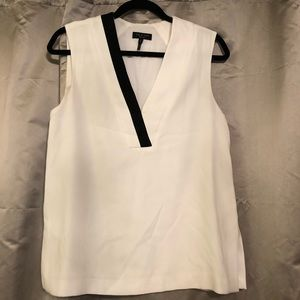 Rag & Bone Black & White Sleeveless Blouse Size S